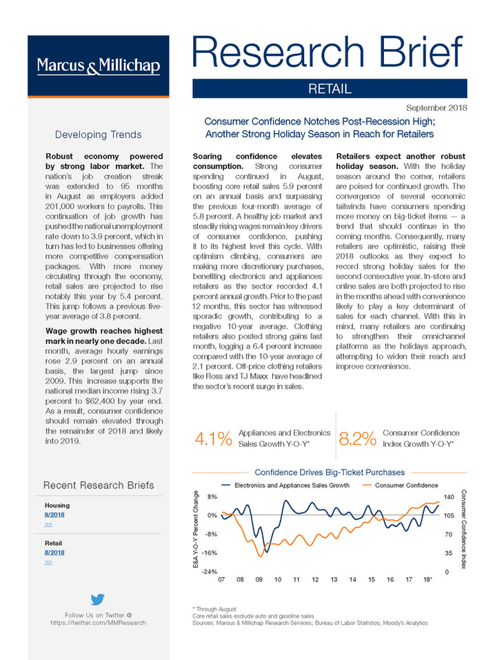 Sept. 2018 | Retail Research Brief
