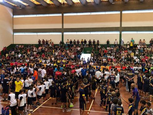 A abertura oficial da 21ª Copa CNA de Futsal Escolar foi realizada no dia 06 de abril, no Ginásio Re