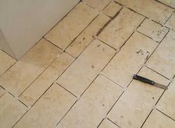 ceramic tile floor in progess