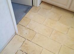 Ceramic tile floor in progress 2