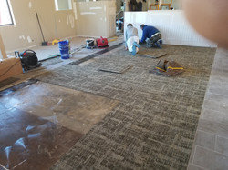 Installing Carpet tile