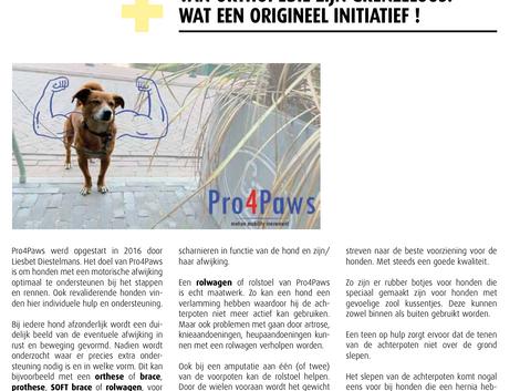 Pro4Paws in de kijker bij BBOT/UPBTO info