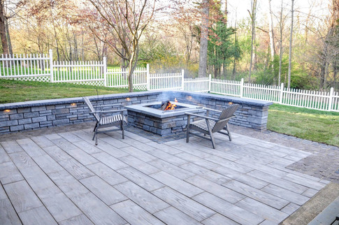 first state landscaping patio and firepit