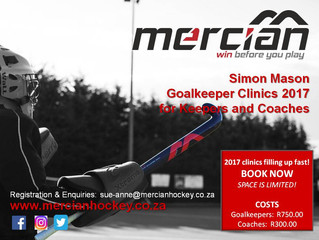 Goalkeeper Clinics - 3 weeks to go!!