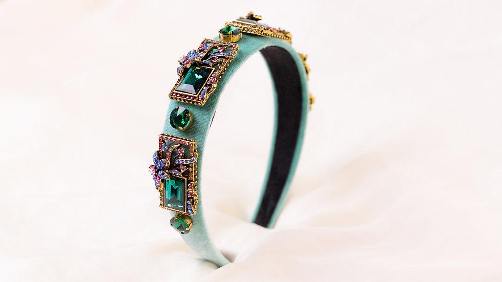 Turquoise Embellished Headband