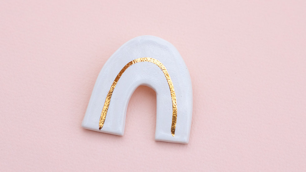 The Arch Brooch - White