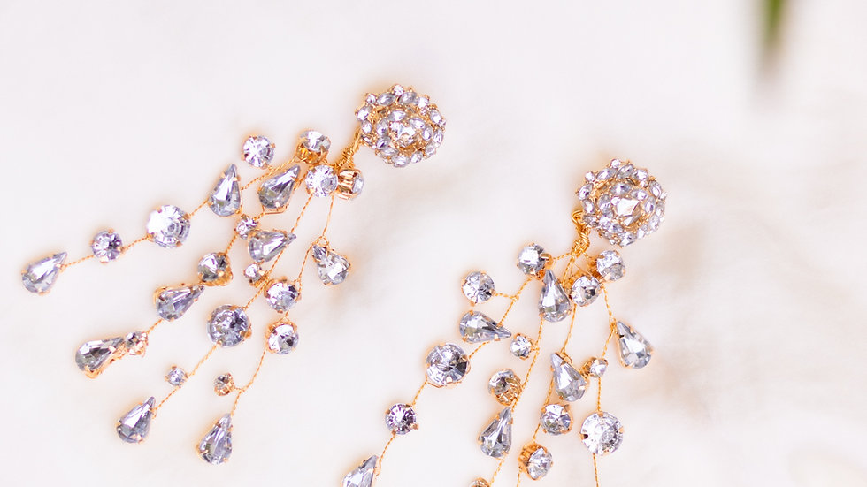 Statement Crystal Cluster Earring