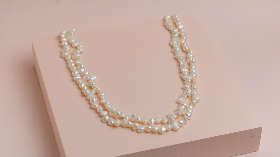 Double Freshwater Pearl Choker Necklace