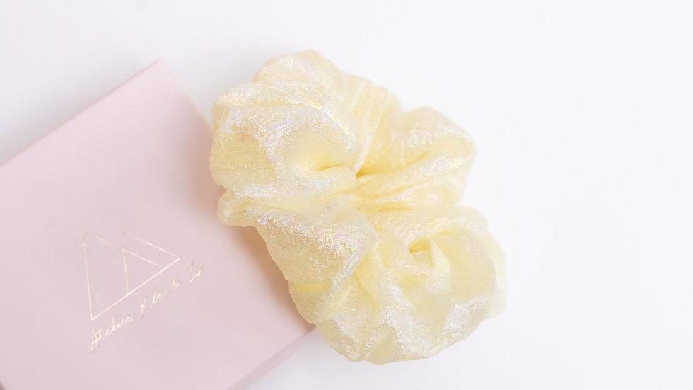 Yellow Iridescent Crêpe Scrunchie