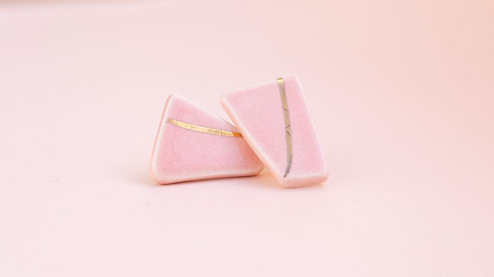 Pebble Rose - Stud Earring