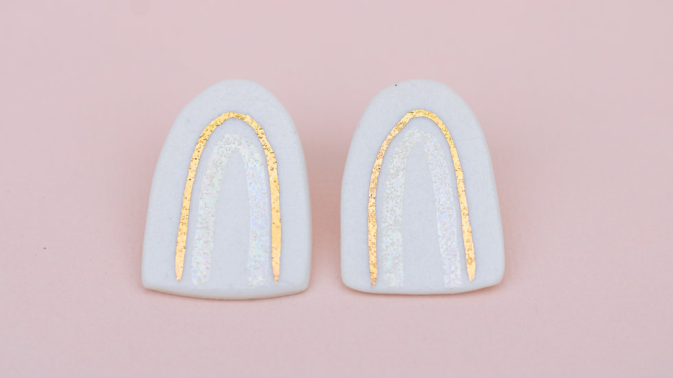 The Arch Stud Earring long