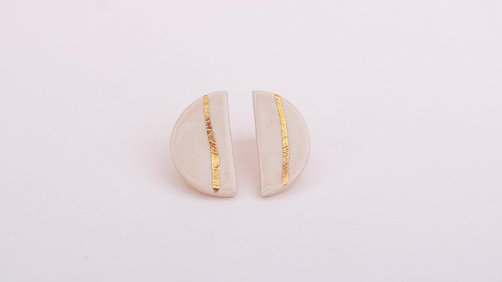 Pebble Peach - Stud Earring