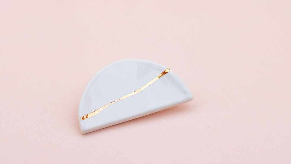 The Moon Brooch - White
