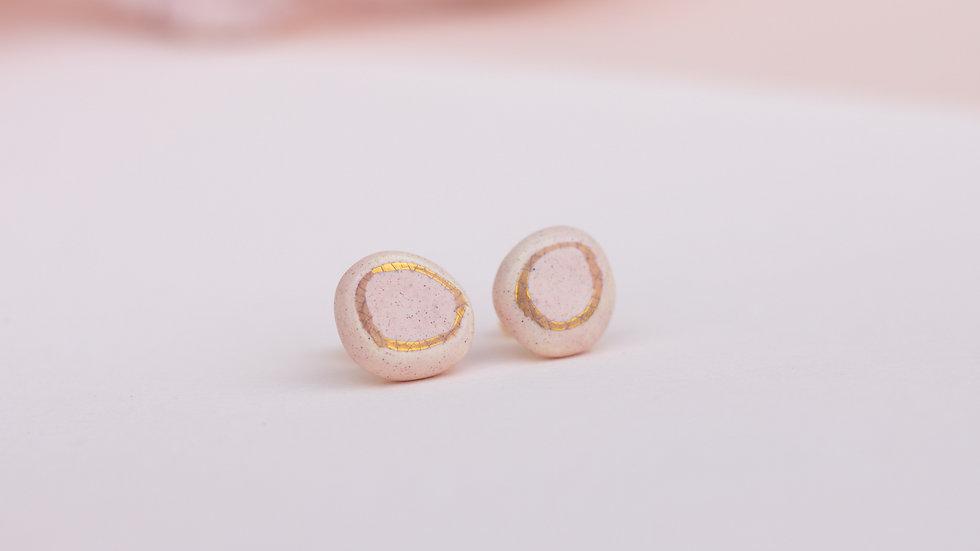 Pebble Blush - Stud Earring