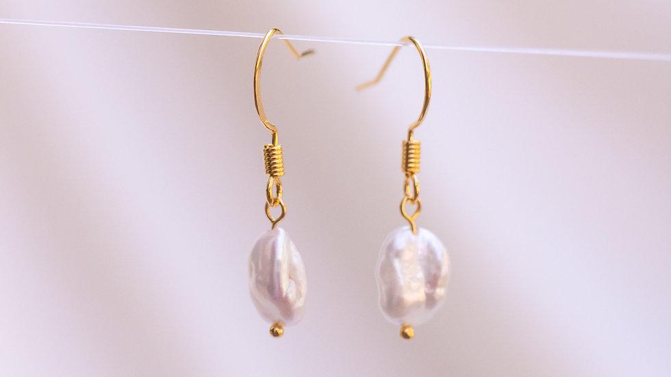 Keshi Pearl Dangle Earring