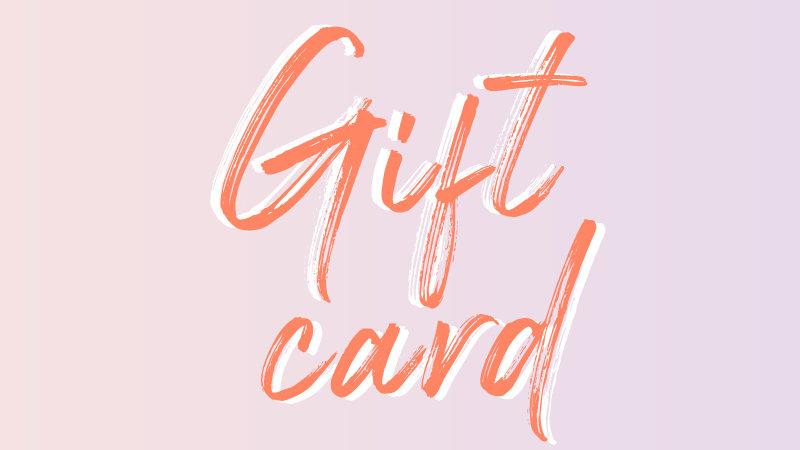 Cadeaubon ~ Giftcard
