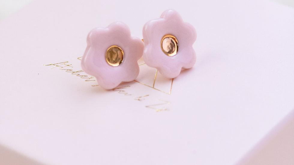 Blossom Stud Earring - Light Pink