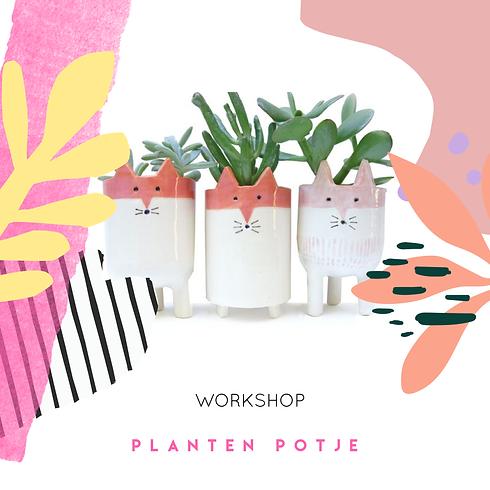 Workshop Plantenpotje van Keramiek