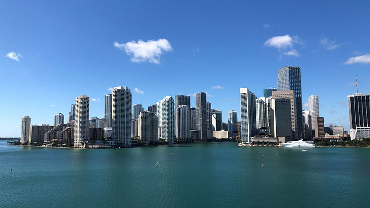 Downtown Miami from the water, Florida.j