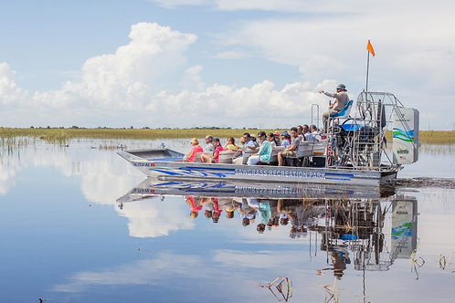 Shared Group Airboat Tour and Gen. Admission at Sawgrass Recreation Park