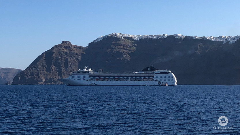 MSC Opera in Santorini, Greece
