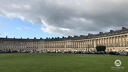 The famous Royal Crescent of Bath, England