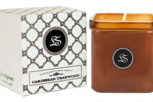 Caribbean Teakwood soy candle made from US grown soy