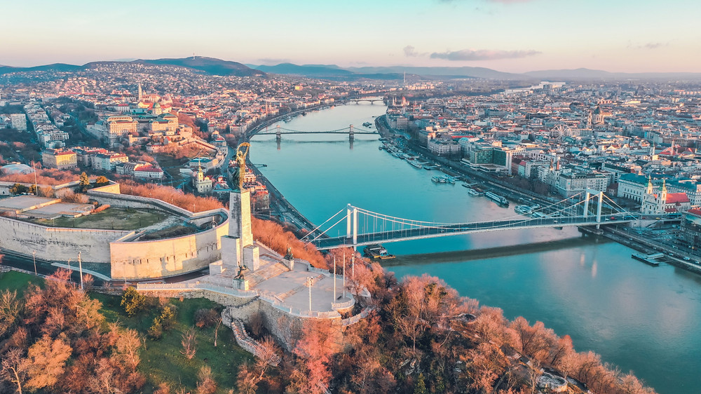 Budapest's skyline, Hungary is a very unique place to visit