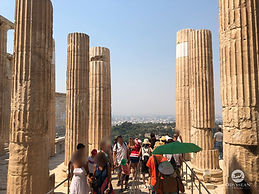 Classic travel destination, the Acropolis of Athens