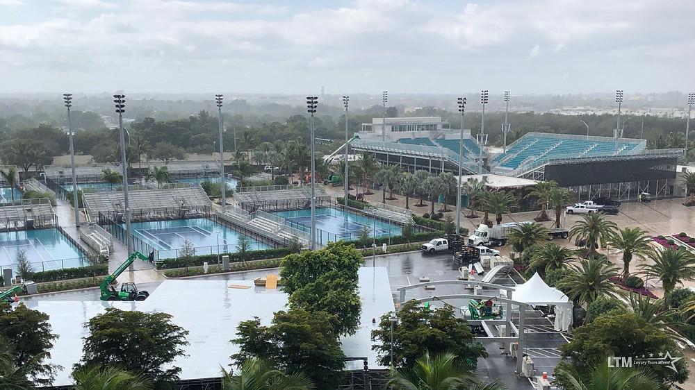 tennis courts for the 2019 miami open tennis tournament