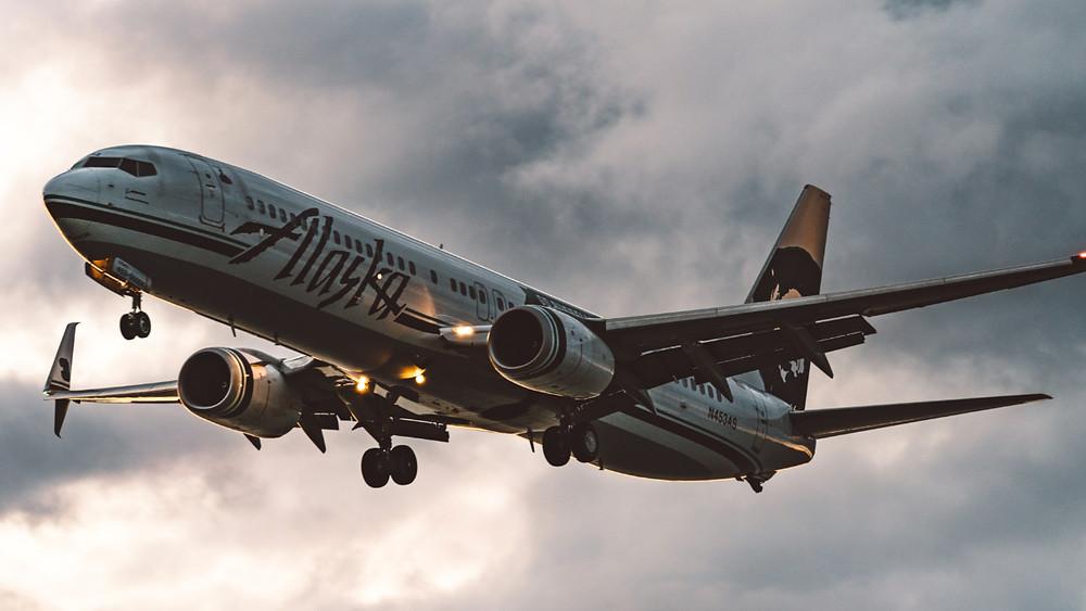 Alaska Airlines flight to Honolulu from Portland