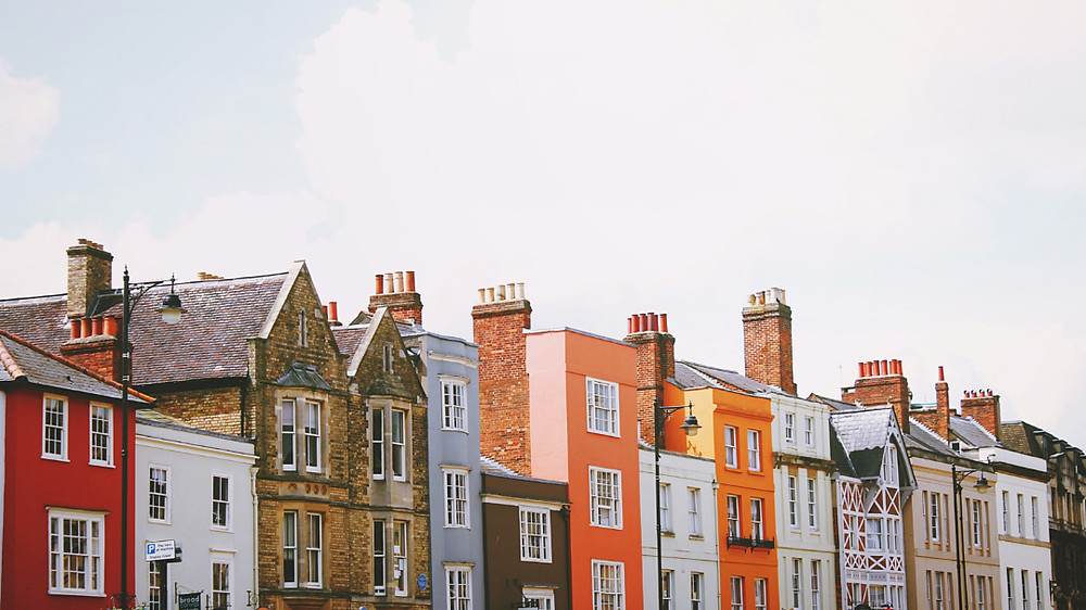 Colourful homes of Oxford, England