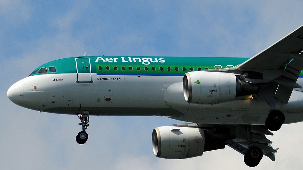Aer Lingus Airbus A320 front end