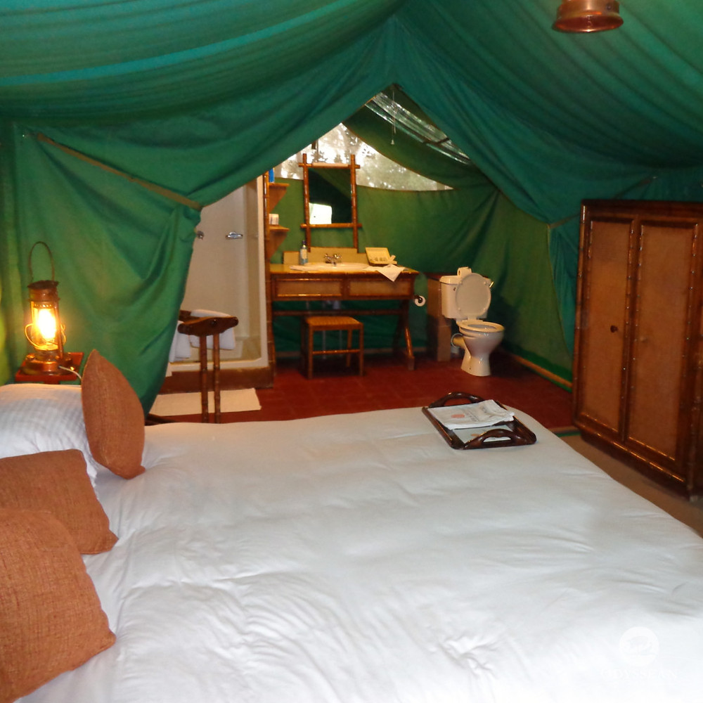 luxury tent on safari in Kenya