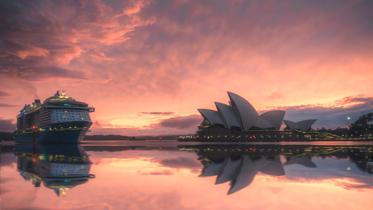 With the Sydney Opera House