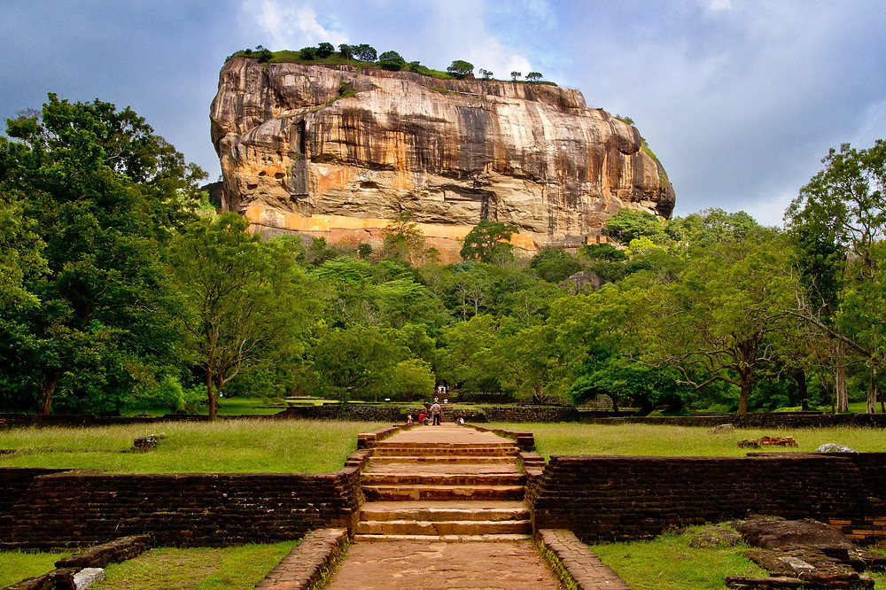 The path to the great rock fortress of Sigiriya, Sri Lanka