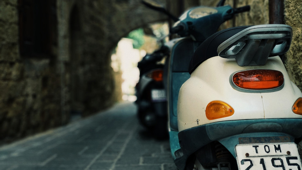 Scooter rental in Greece to explore the city and drive from villa to beach