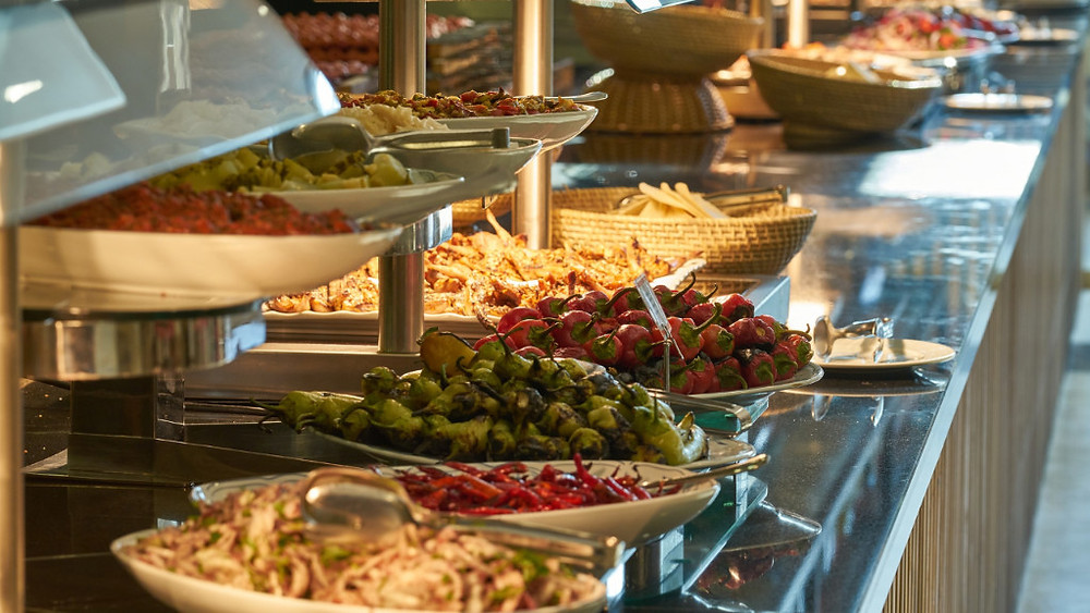 self serve buffet on a cruise ship