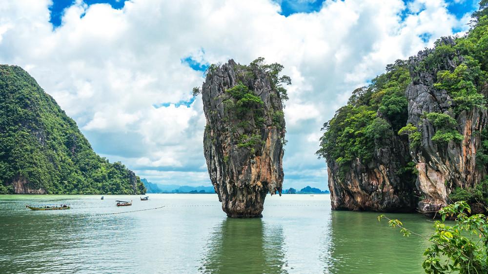 James Bond Island, known locally as Khao Phing An and a truly wonderful landmark near Phuket, Thailand