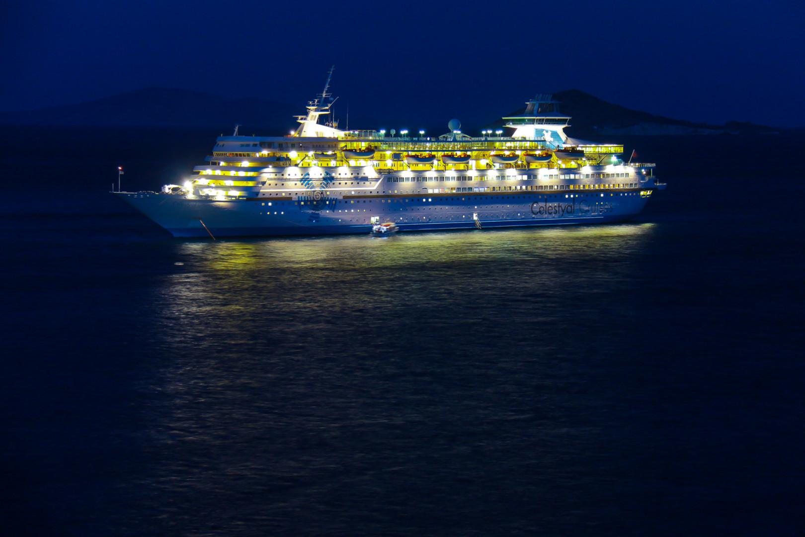 Celestyal Olympia by night
