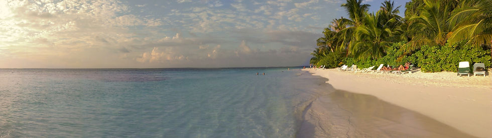 Exclusive island paradise panorama shot.