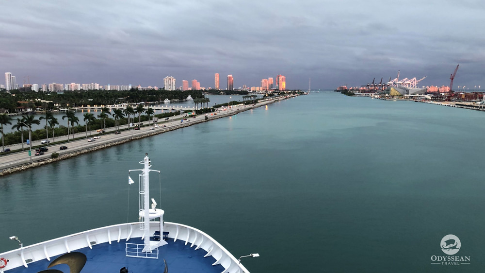 Sailing into cloudy skies out of PortMiami