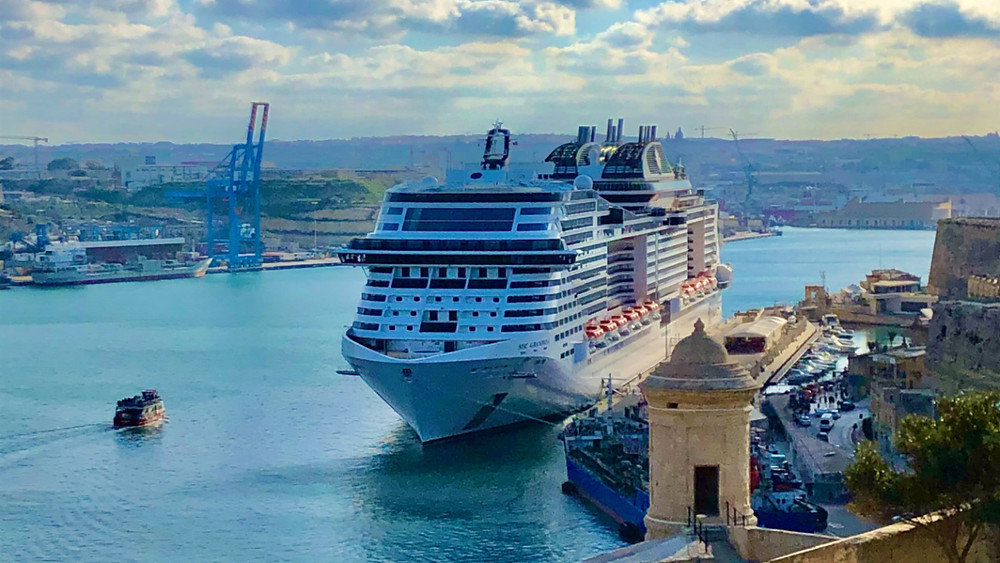 MSC Grandiosa in port, successful sailing during COVID