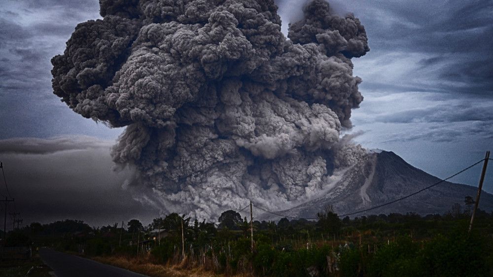 An eruption caught on camera, Mount Sinabung, Indonesia