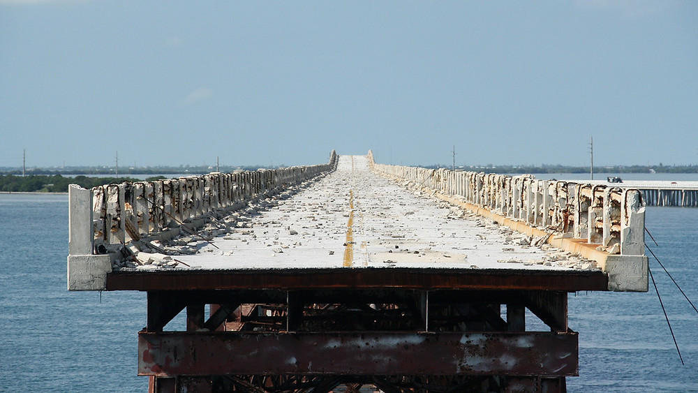 Segment of bridge from the Florida Keys