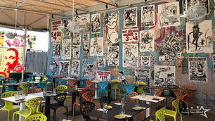 The only actual restaurant located within the complex of the Wynwood Walls, enjoy an eclectic art experience with indoor comforts or great views onto the graffiti outside.