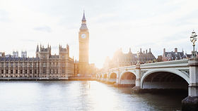 Big Ben, the Elizabeth Tower, and the Houses of Parliament in Westminster - London, England