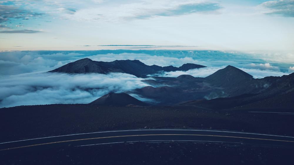 The road to the summit of Haleakala, Hawaii's Maui
