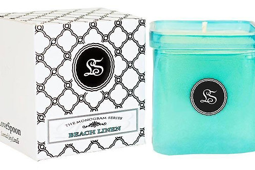 Beach Linen soy candle made from US grown soy