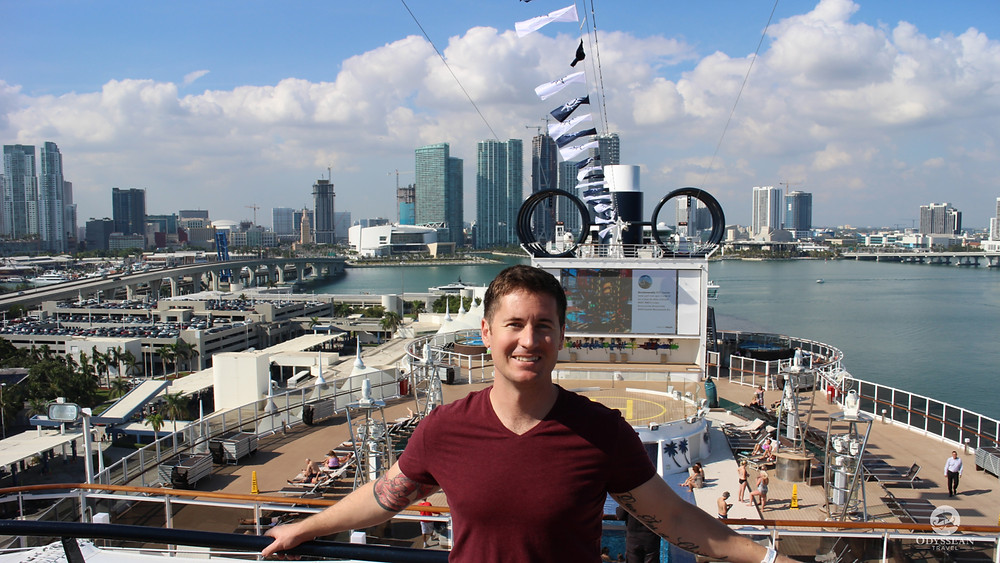 Shy on board the MSC Seaside in Miami, you can get there with Sunwing this winter
